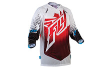 Fly Racing Lite Hydrogen Jersey Men rot/weiß